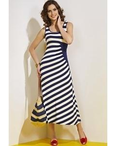 Длинное платье в полоску TopDesign A4 006