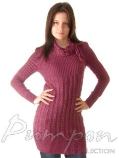 Малиновое платье-туника Parkhande