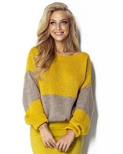 Яркий двухцветный свитер Fimfi I302