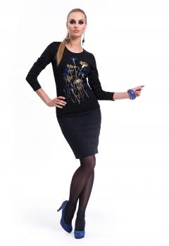 Черная блузка Zaps Jenifer