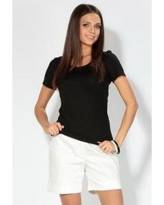 Черная приталенная футболка | 3601