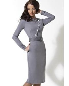 Светло-серое платье TopDesign | B2 104