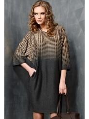 Платье свободного кроя TopDesign B3 028