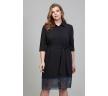 Нарядное платье-рубашка чёрного цвета Donna Saggia DSPB-32-6