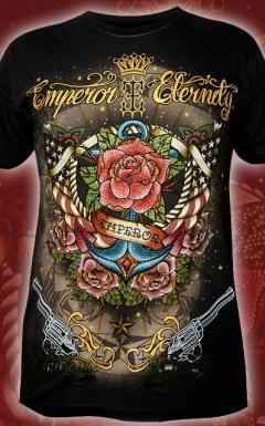 Мужская футболка со стразами Emperor Eternity Rose