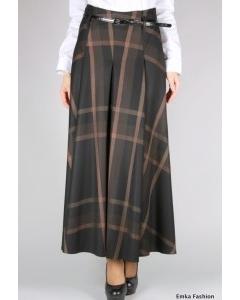 Длинная юбка в клетку Emka Fashion | 288-carnela