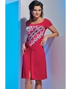 Летнее трикотажное платье TopDesign A4 024