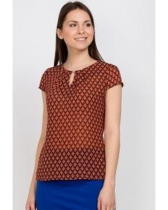 Блузка в ромбик Emka Fashion b 2153/felicity