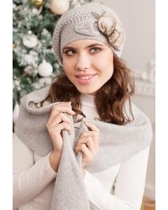 Чёрный комплект (берет и шарф) Landre Шармель