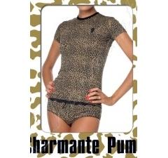 Леопардовая футболка Charmante