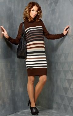 Трикотажное платье в полоску TopDesign B3 128