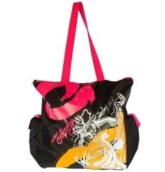 Чёрно-малиновая сумка Grizzly | ДС-1285