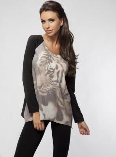 Блузка с принтом Enny 16045