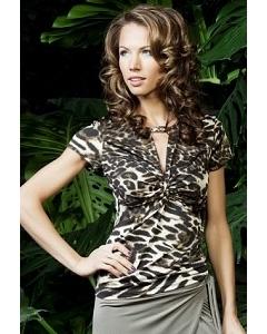 Леопардовая блузка TopDesign Premium PA3 41
