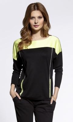 Чёрно-лаймовая блузка Ennywear 200028