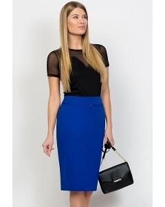 Синяя юбка-карандаш Emka Fashion 369-vasilisa