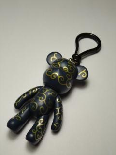 Черно-золотистый брелок Popobe (8 см) | 08 008