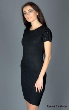 Чёрное платье с ангорой