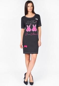 Платье для дома с розовым принтом   1288-50