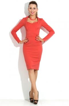 Платье алого цвета Donna Saggia DSP-124-40