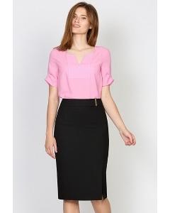 Юбка с боковым разрезом Emka Fashion 422-almaza