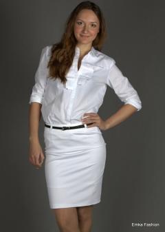 Стильная юбка белого цвета | 129-elis