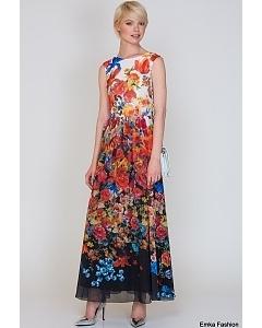 Длинное платье  Emka Fashion PL-425/valora