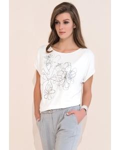 Белая блузка Zaps Kore