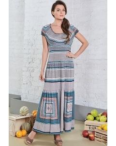 Длинное летнее платье из трикотажа TopDesign A8 113