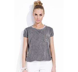 Блузка серого цвета Zaps Sara