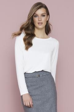 Простая блузка белого цвета Zaps Zola