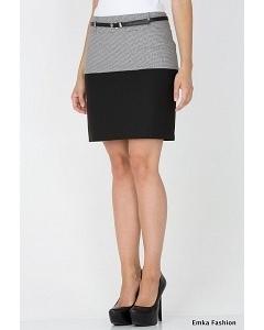 Короткая двухцветная юбка Emka Fashion 443-fiesta