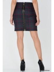 Юбка с молнией по всей длине Emka Fashion 444-lulu