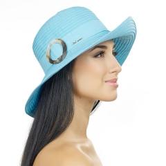 Голубая летняя шляпа Del Mare 010-21