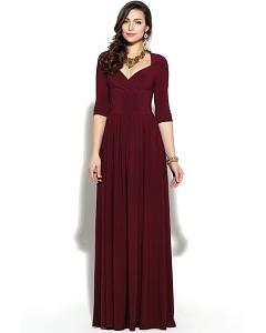 Платье цвета спелая вишня Donna Saggia DSP-139-77t