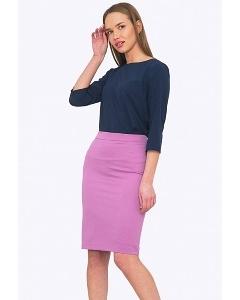 Офисная юбка сиреневого цвета Emka Юбка S773/paletta
