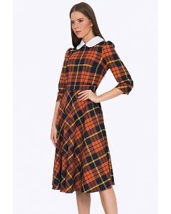 Клетчатое платье Emka PL694/apricot