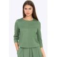 Женская блузка цвета хаки Emka B2261/calipso