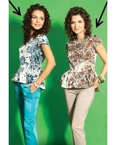 Красивая блузка с баской TopDesign Premium PA5 35