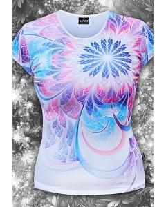 Женская футболка Fluoro Flower (Светится в ультрафиолете)