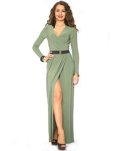 Длинное трикотажное платье Donna Saggia | DSP-81-36t