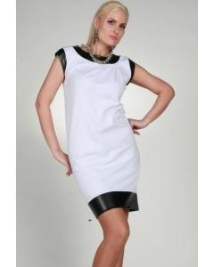 Бело-черное платье Chertina & Durre | 0077