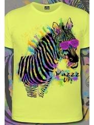 Мужская футболка Zebra Wazzap (Светится в ультрафиолете)