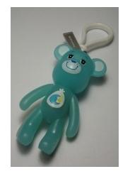 Голубой брелок Popobe bear (8 см) | 08 019