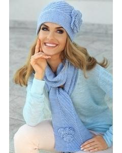 Комплект тёплая шерстяная шапочка и шарф Kamea Emma