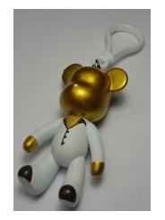 Золотистый брелок Popobe bear (8 см) | 08 004