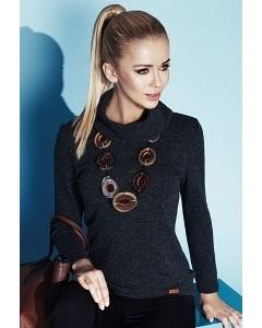 Женский свитер тёмно-серого цвета Zaps Leslie