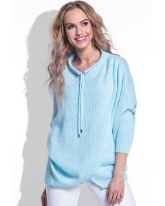 Женский голубой свитер Fimfi I160