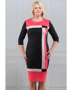 Платье с геометрическим рисунком Rosa Blanco 33036