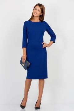 Синее платье Emka Fashion PL-429/elpis